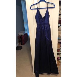 Dresses & Skirts - Shimmery royal blue plugging spaghetti strap dress